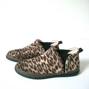 Taryn Rose Freddie leopard ankle boots sz 10 1/2